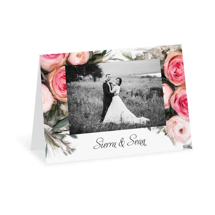 wedding thank you cards time limit%0A Ethereal Garden  Thank You Card