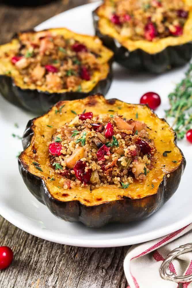 Quinoa Stuffed Acorn Squash Recipe Acorn Squash Recipes Food