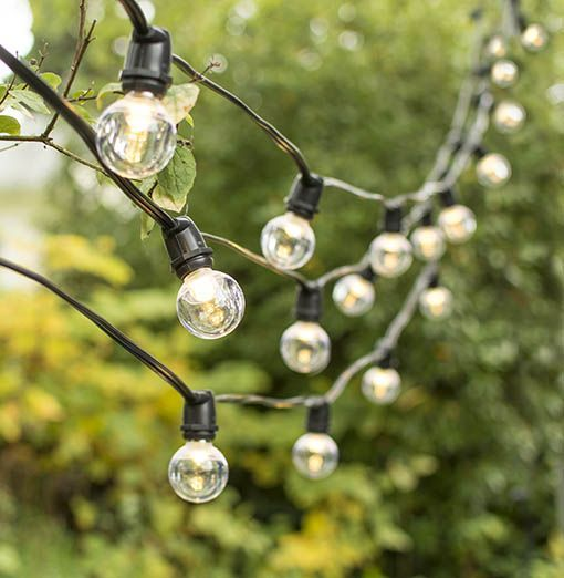 BLACK - 25 G40 Bulb string light, it is 7m long, suitable for decorations ,it can use for indoor or outdoor. it's good for wedding party christmas decorations.