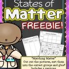 States of Matter FREEBIE! I hope your students enjoy these sorting printables. Black and white NO PREP printables are ready for you to print and go!  Perfect for your science center or independent practice! 2 Versions included. Check out the full States of Matter unit here:  States of Matter Sorting Cards and Printable Activities  Be the first to know about sales, freebies and new product launches: *Look for the green star next to my store picture and click it to follow my store..