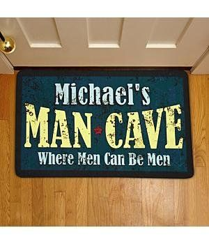Personalized Rustic Man Cave Doormat -17 x 27 by Personal Creations. $24.99. A Personal Creations Exclusive! Our Rustic Doormats Have A Unique Weathered Look And Set The Tone For Visitors.