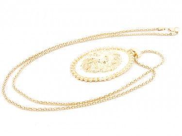 Złoty wisior z lwem Sprawdź więcej na www.carlena.pl