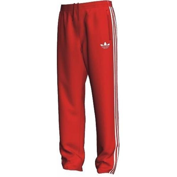 Красные штаны adidas
