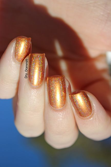 Celestial Cosmetics We Breathe Fire Collection Glaedr swatched by Dry, Dammit! | Available at www.celestialcosmetics.com