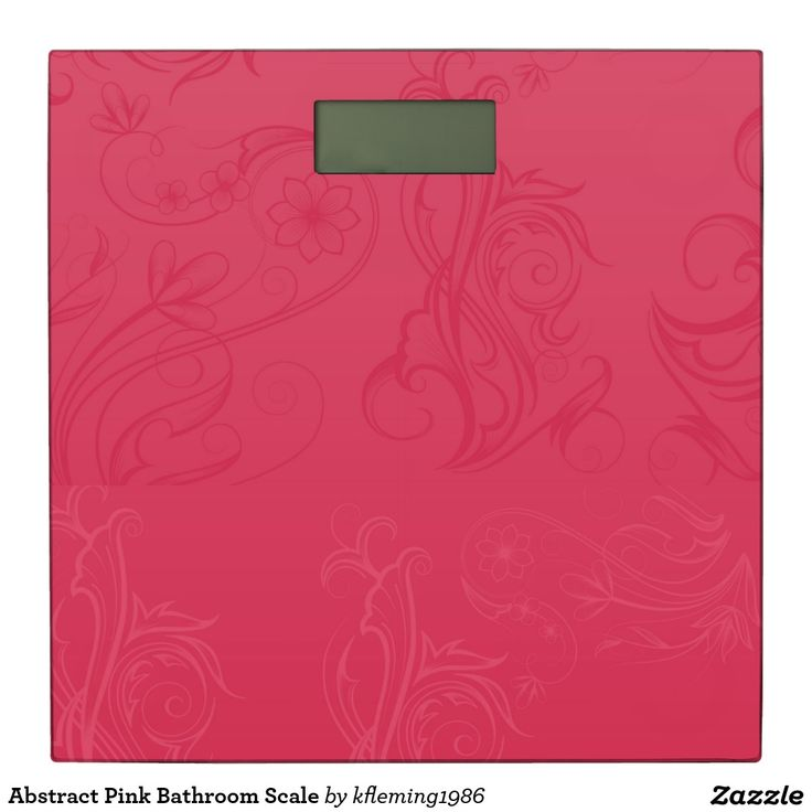 Abstract Pink Bathroom Scale