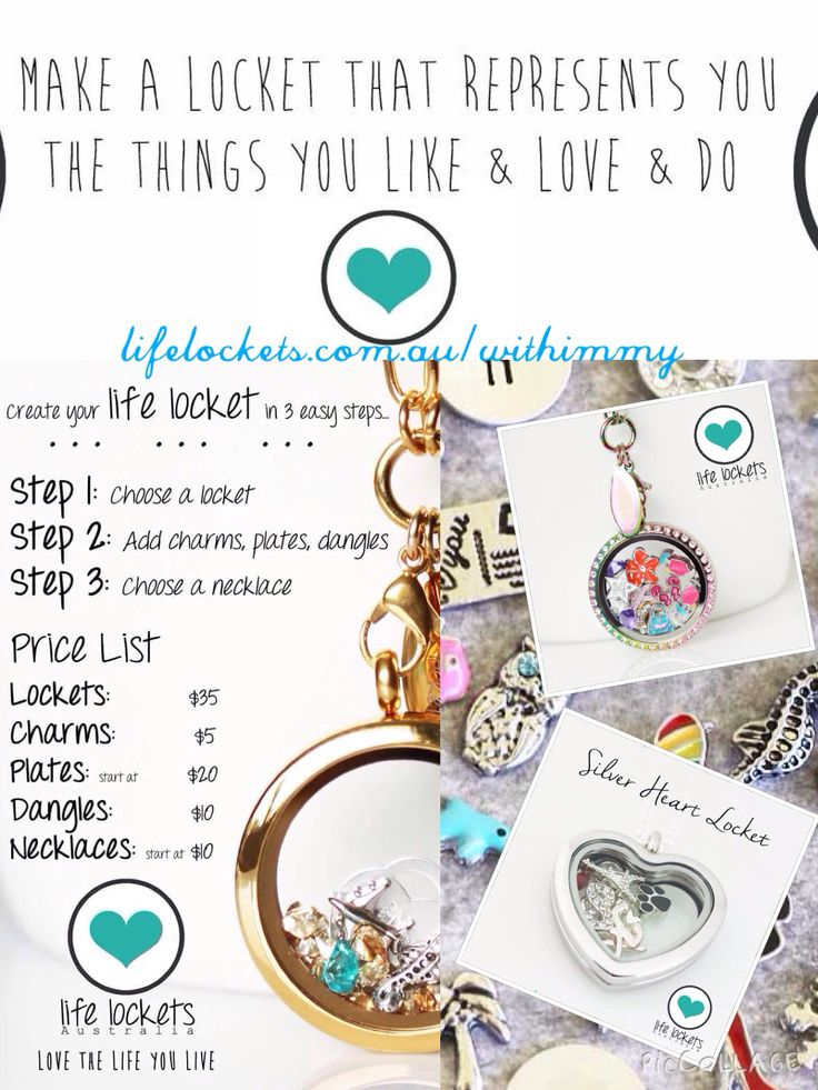 Create your locket in 3 easy steps  Check out the range lifelockets.com.au/withimmy