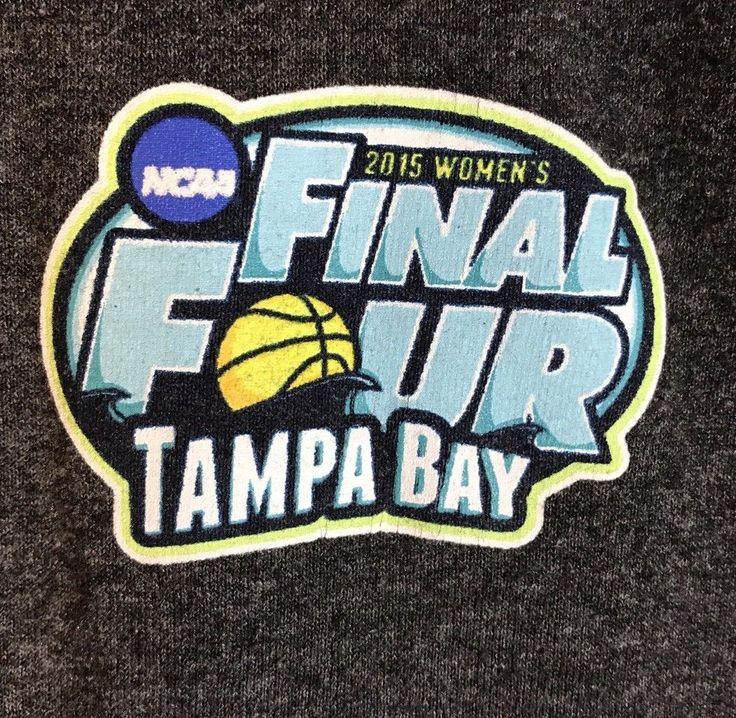 NCAA 2015 Women's Final Four Basketball Large Tampa Bay Champion T-shirt  Gray  | eBay