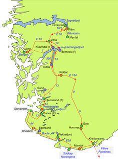 Unsere Route durch Südnorwegen mit dem Wohnmobil