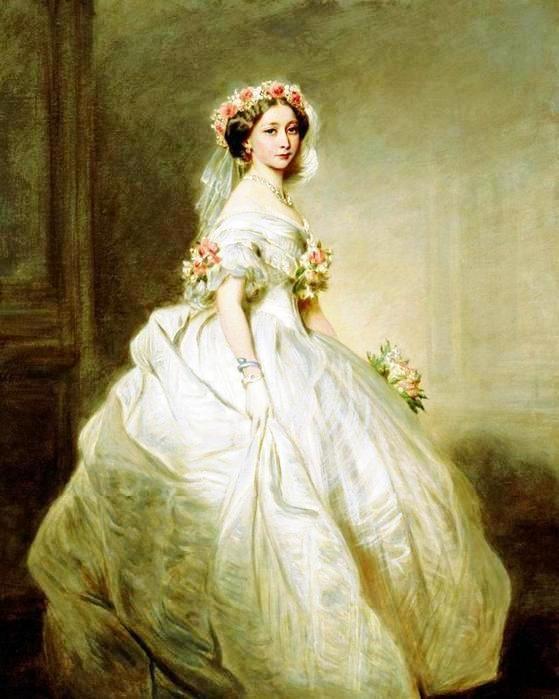 Принцесса Алиса в свадебном платье, 1858
