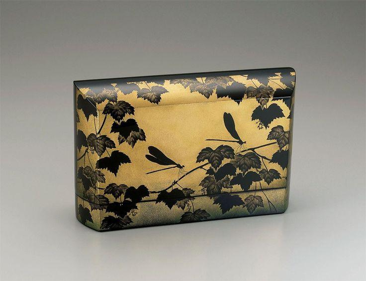 沈金飾箱「緑風」鳥毛清 細かな模様とかがきれい