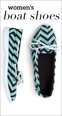 Chevron + Boat Shoes = AMAZING #Gordmans #shoes #casual
