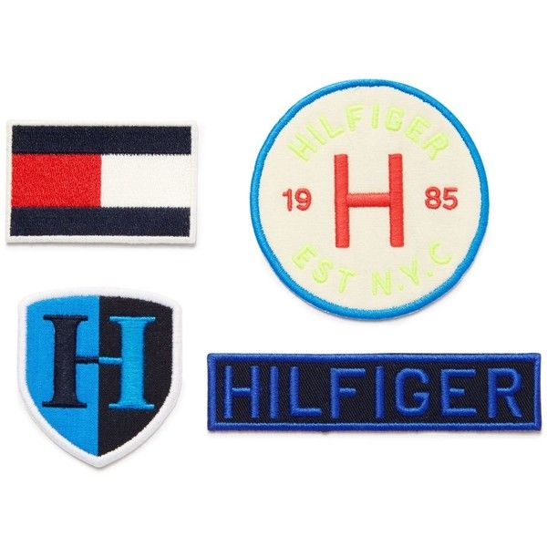 Tommy Hilfiger Iron-On Patches ($20) ❤ liked on Polyvore featuring blue
