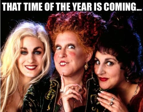 "LOVE the Sanderson Sisters from ""Hocus Pocus.""  Still one of my favorite movies to this day <3"