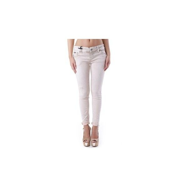 Sexy Woman GR_67980 Trousers (£44) ❤ liked on Polyvore featuring pants, other, trousers, women, white pants, sexy white pants, white trousers and sexy pants
