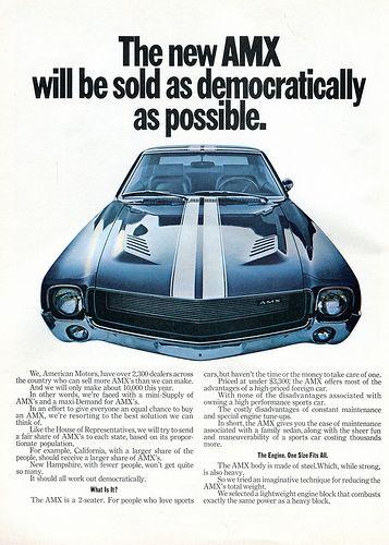 1968 AMC American Motors AMX Advertising Road & Track April 1968 | Flickr - Photo Sharing!
