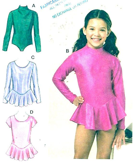Girls dance costume Athletic gymnastic Unitard Sewing by HeyChica