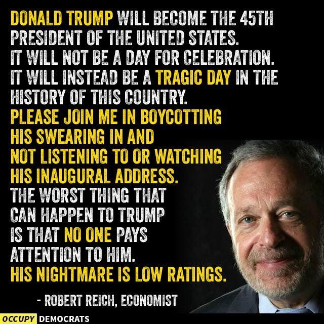 NO WAY WILL I BE WATCHING DTRUMPS INAUGRAL ADDRESS ON TV!! DUMP TRUMP the sob, piece of crap,pedophile,racist,ASSHOLE!!!