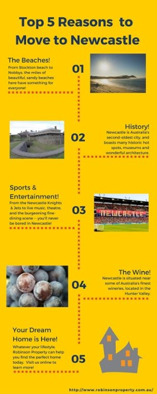 Check out this infograph on our Top 5 Reasons for Living in Newcastle.  What would you add?