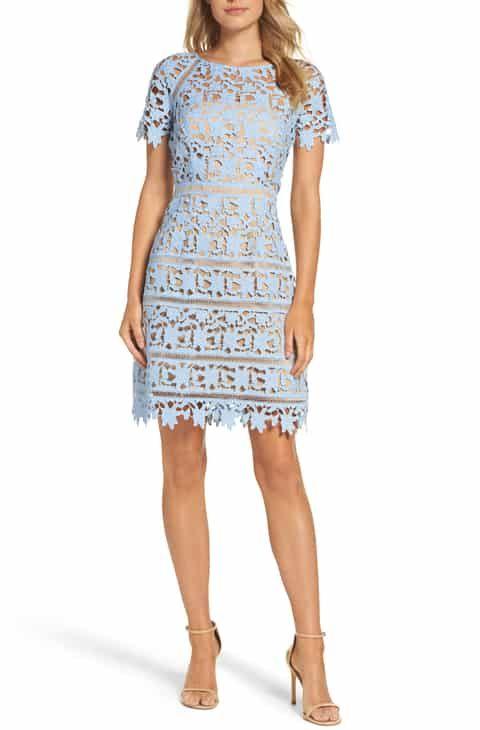 d2006dad3 Petite dresses for women wedding - Yasmin Fashions. Save on Eliza J Crochet  Overlay Dress (Regular & Petite)