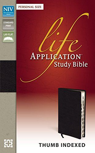 NIV, Life Application Study Bible, Personal Size, Bonded Leather, Black, Indexed - http://www.darrenblogs.com/2016/12/niv-life-application-study-bible-personal-size-bonded-leather-black-indexed/