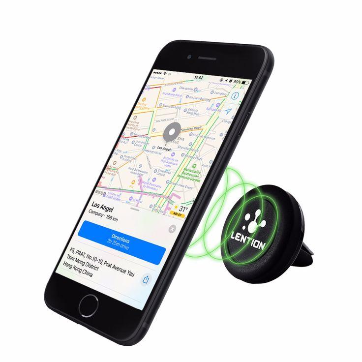 LENTION Universal Air Vent Magnetic Car Mount Holder 360° Rotation for Smartphones Mini Tablets GPS