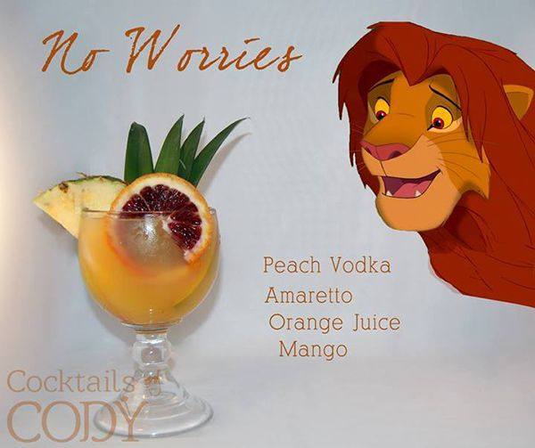 Disney themed cocktails. They all look  delicious!