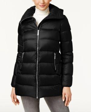 Michael Michael Kors Down Puffer Coat - Black XS