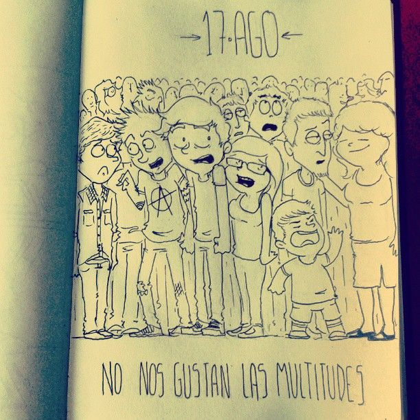 17 AGO - Daily Comic - multitudes #dailycomic #comic #sketchbook #sketch #doodle #elbocetoaleatorio