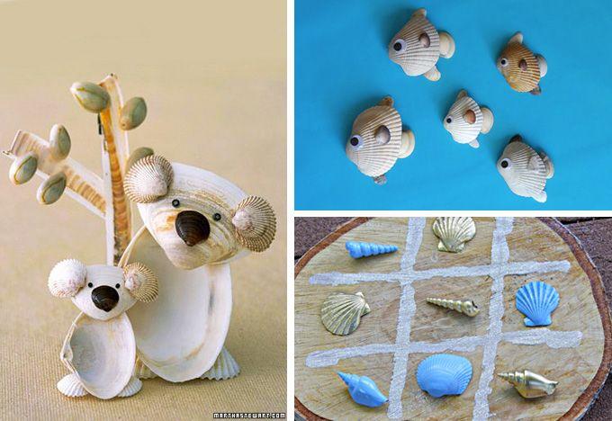Decorazione con le conchiglie: giochi per bambini
