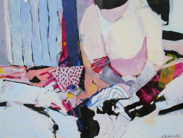 Gabriel Godard Gouache Painting <3