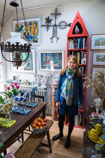 Emily Sutton at her home and studio in York, York Open Studios, 2015