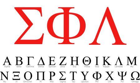 Custom fraternity sorority stickers symbol font