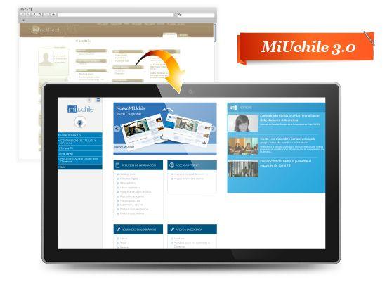 Nueva versión Ventanilla Única de Servicios MiUchile 3.0. Ver más en http://uchile.cl/u107820