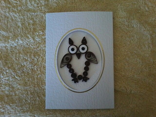 An owl card I have made.