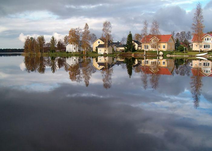 Kuivasjärvi lake, mirror - Oulu, Oulu