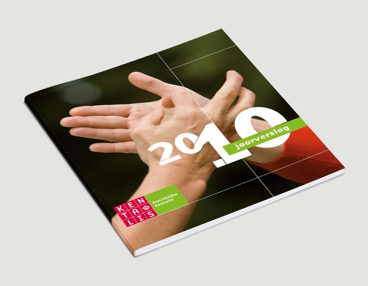 Omslag jaarverslag 2010, Kentalis / visuele identiteit / 2011 - Ontwerp door Cascade - visuele communicatie Amsterdam