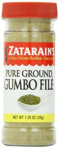 Zatarain's Pure Ground Gumbo File 1.25 oz - http://spicegrinder.biz/zatarains-pure-ground-gumbo-file-1-25-oz/