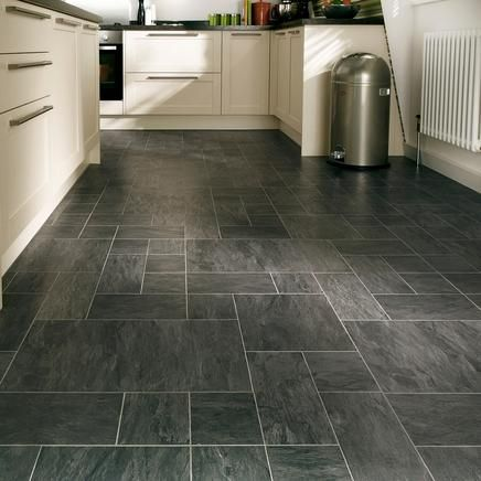 Black slate flooring laminate flooring howdens for Laminate tile squares