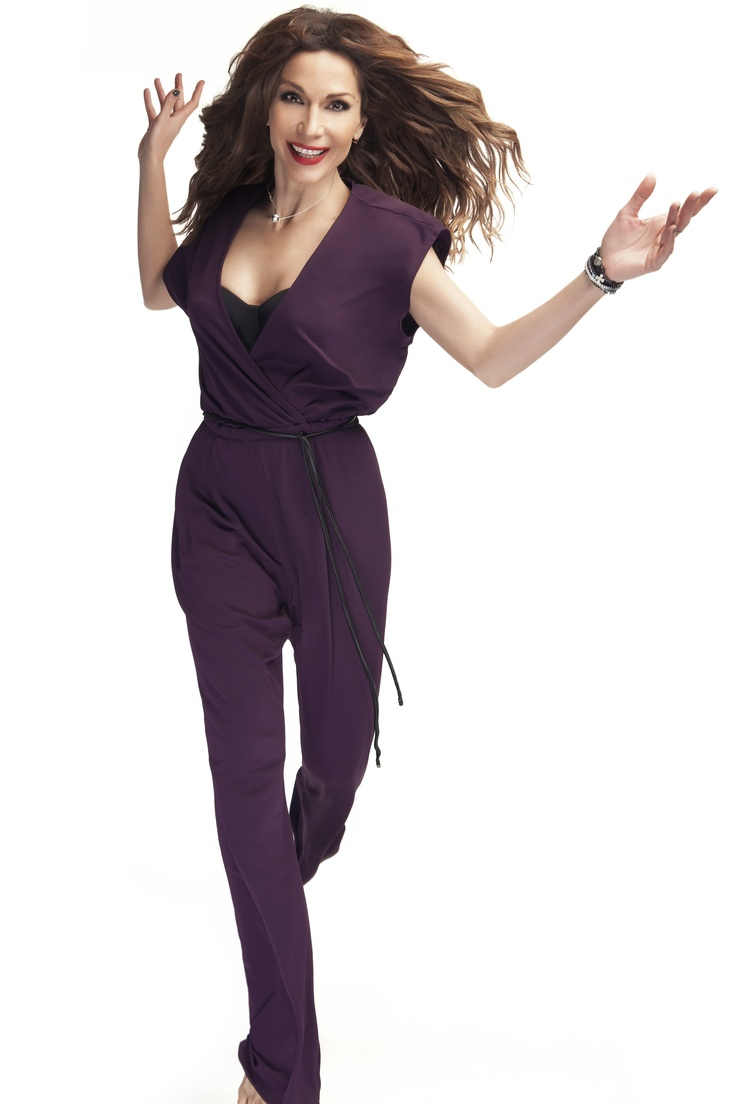 Purple jumpsuit   Despina Vandi for chip and chip