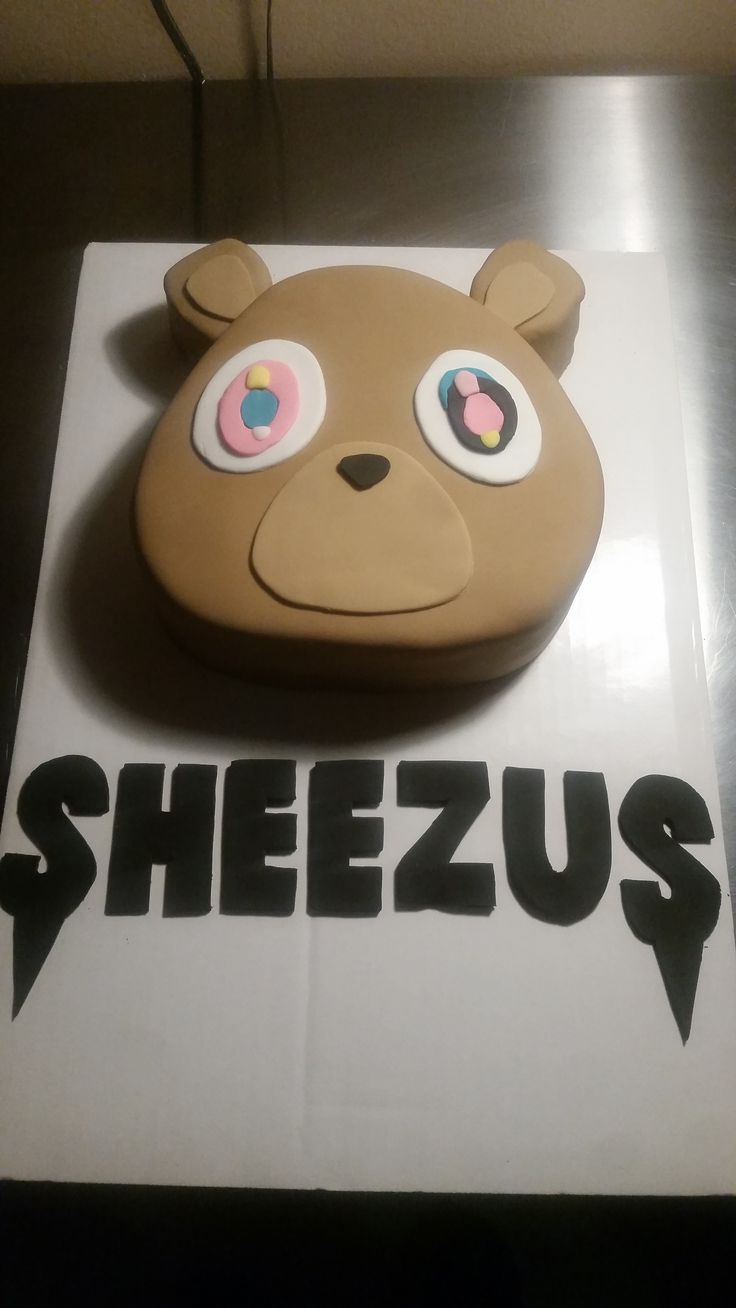 Kanye West Bear Cake I made for my daughter's 16th birthday