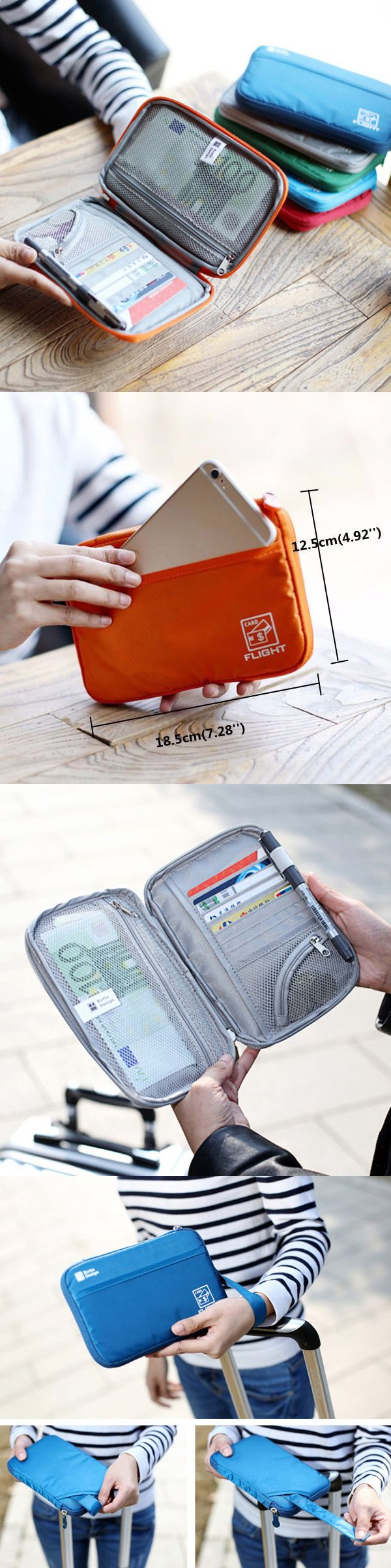 US$8.57 Nylon Multifunction Passport Wallet Purse _Cosmetic Bag_ Travel Storage Bag