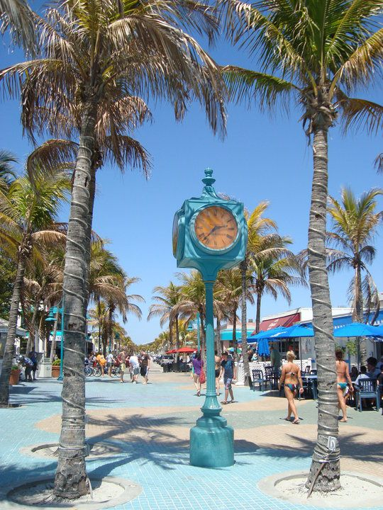 Ft. Meyers Florida  and love that clock!