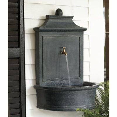 17 best images about wall fountain on pinterest wall - Wall mounted water feature ...