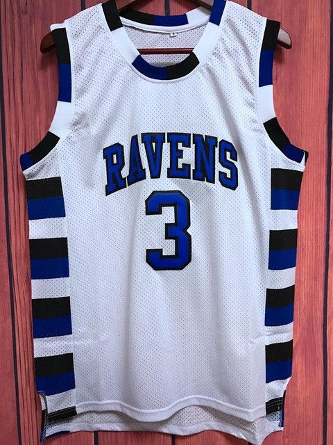 EJ One Tree Hill Ravens Lucas Scott #3 Movie Basketball Jersey WHITE
