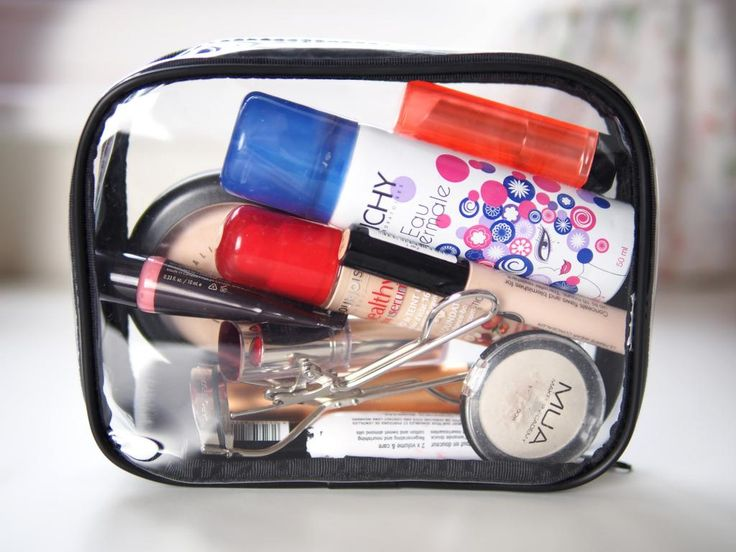 ESSIEBUTTON : I Can See Clearly Now | Clear Makeup Bag.  Clear bags are best so you can see exactly what you have and find it easily.
