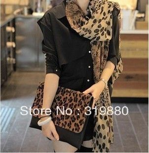 Woman sought after worldwide Leopard Scarf,Warm shawl,  four seasons of the year scarf Free shipping $3.99
