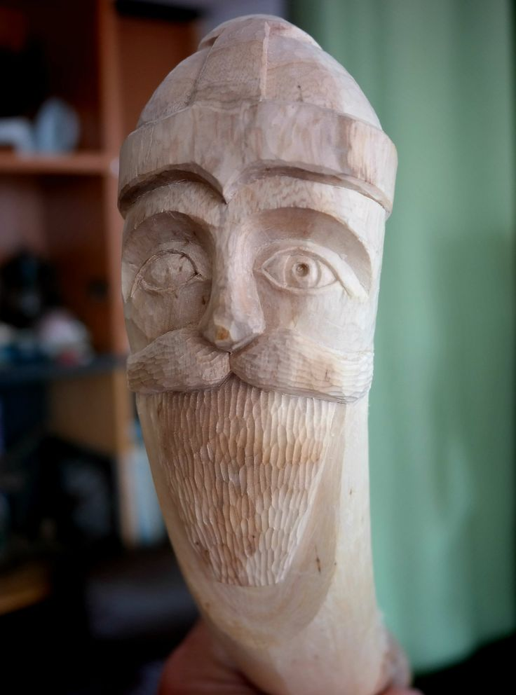 Wood carved Odin by Juris Rudzitis