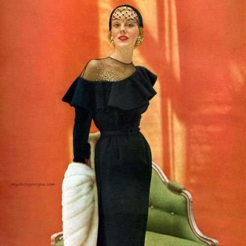 Anna Miller dress designed by Earl Luick 1950 photo by John Rawlings