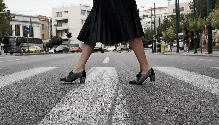 Isn't this chic! Strolling in the city with a pair of Workshops!  Anti-Bullying Collection.  The Workshop handmade shoes - Teacher