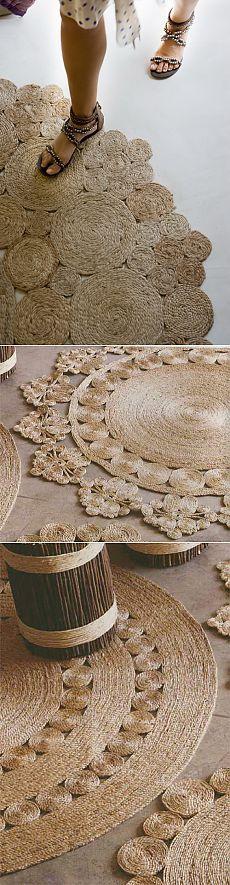 Самодельные коврики из джута или сизаля.
